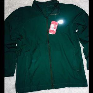 The North Face Green Full Zip Long Sleeve Men's LG